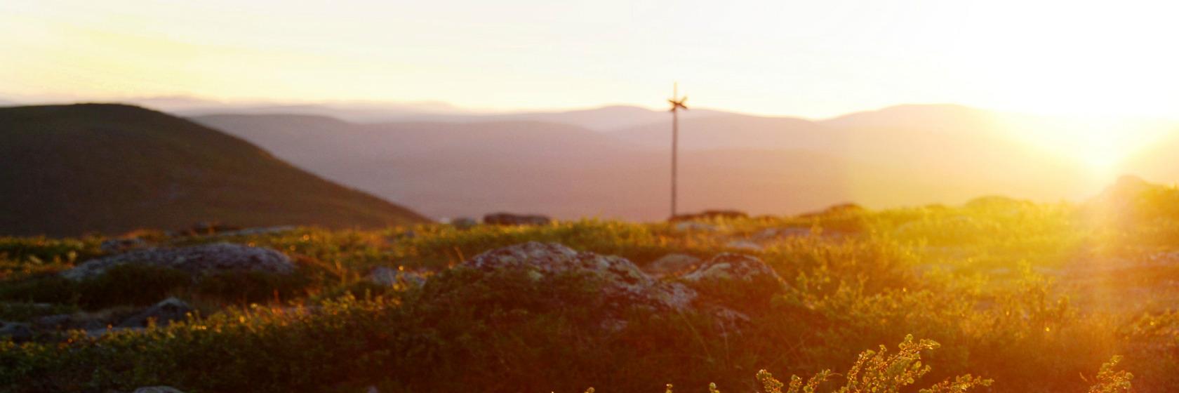 Solnedgång över Lapplandsfjällen